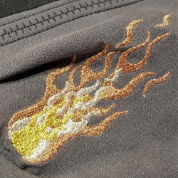 Detail of Metallic Flames