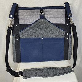 Blue Grey Deco Bag