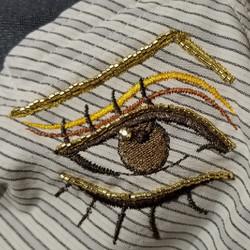 "Detail of Beaded ""Fashion Eye"""