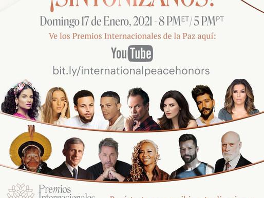 Esuesa Alpha Musik, International Peace Honor, listos para la entrega de premios 2021 en Washington.