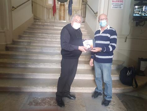 Malta Milli Kütüphanesine Kitaplarımın Teslimi