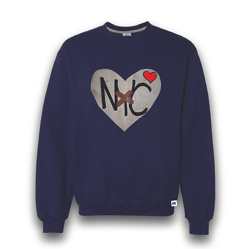 HEAL HEART [ NYC] CREW SWEATSHIRT [UNISEX]