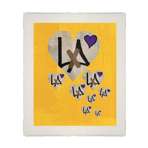 """8"" HEARTS HOMAGE LITHOGRAPH LG"