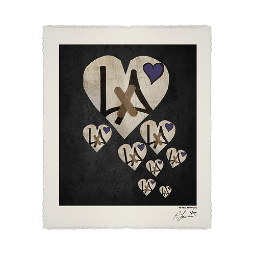 """""""8"""" HEARTS HOMAGE LITHOGRAPH"""