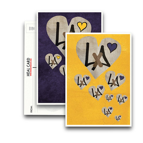 "the ""8"" HEARTS HEAL CARD MIX   [10PK]"