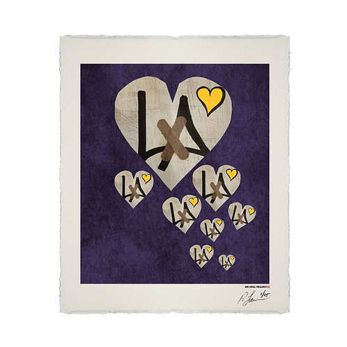 """8"" HEARTS HOMAGE LITHOGRAPH"
