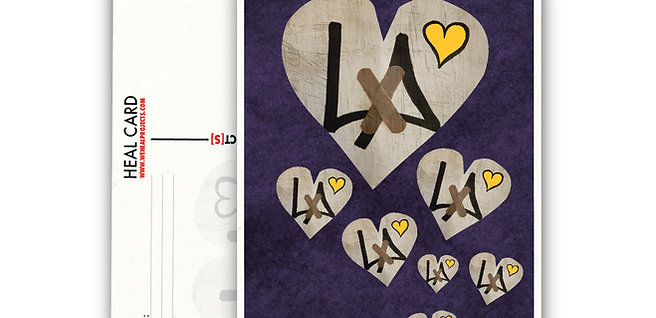 "the ""8"" HEARTS HEAL CARD   [10PK]"