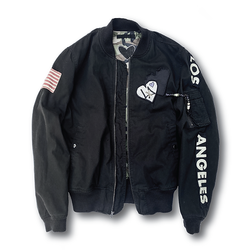[WE] PURPOSE MILITARY BOMBER BLACK