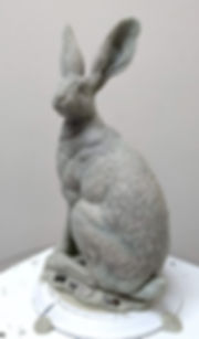Hare standing wax 3