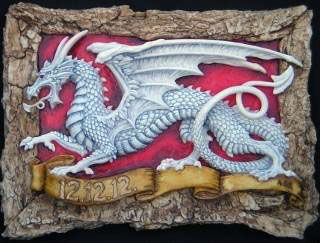 English, dragon, plaque, Andrew, Bill, sculpture, art