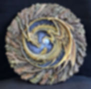 Diadem, plaque, dragon, Andrew, Bill, sculpture, art