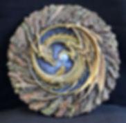 Diadem, plaque, dragon, Andrew, Bill, sculpture, art