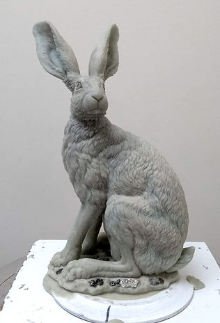 Hare standing wax 5