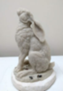 Hare moongazing wax Andrew Bill sculpture country art wildlife