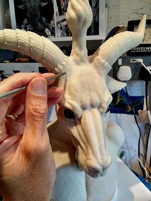 Baphomet Bust wax