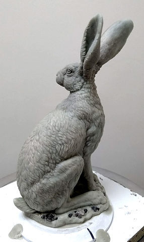Hare standing wax 4