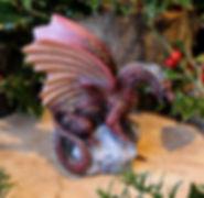 Forsvarer, dragons, sculpture, Andrew Bill, sculpture, made in England, UK