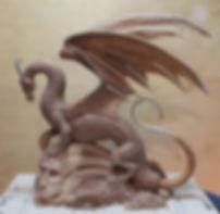 Staffordshire Hoarder dragon wax model