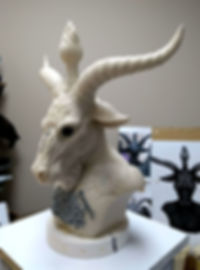 Baphomet Bust finished wax