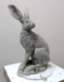 Hare standing wax 1