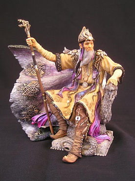 Dragonmaster, wizard, Andrew, Bill, sculpture, art, dragon