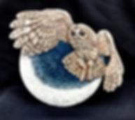 Tawny Owl & Moon Plaque