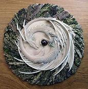 Andrew Bill's Diadem plaque - dragon sculpture