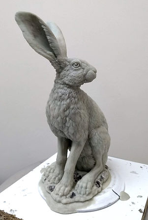 Hare standing wax 2