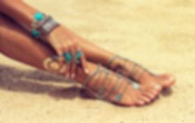 Spray tanned legs tanning salon Glam Tans