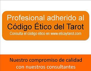 Profesional adherido al Código Ético del Tarot