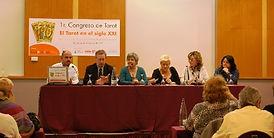 Mesa redonda del primer congreso de Tarot, organizado por la escola mariló casals