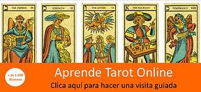 Aprende Tarot Online. Con esta visita guiada conocerás los materiales del curso, de que forma te explicamos cada carta, los ejercicios, las lecturas, etc.
