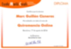 Diploma curso Quiromancia Online
