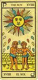 Carta de El Sol de los Arcanos Mayores del Tarot de Marsella