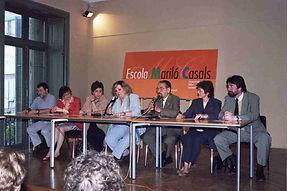 Foto del claustro de profesores, en el acto realizado en Casa Elizalde, el año 2002