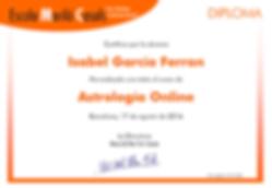 Diploma Curso Astrologia Online