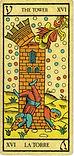 Carta de La Torre de los Arcanos Mayores del Tarot de Marsella