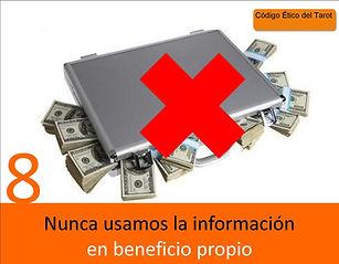 Código Ético del Tarot, no usamos la información en beneficio propio