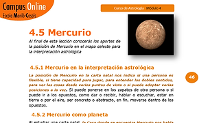 Carta astral, planeta Mercurio