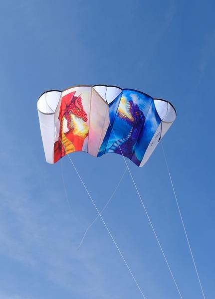 Jumbo Power Sled 36 Kite - Sun & Moon Dragons