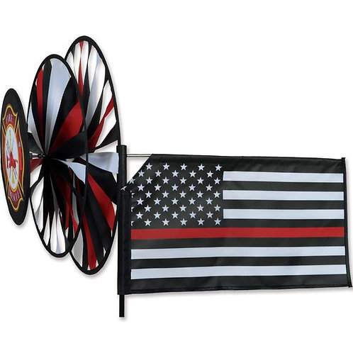 Triple Spinner - Thin Red Line &Thin Blue Line