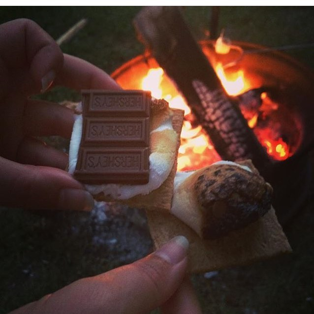 Rain or shine, we roast the smores