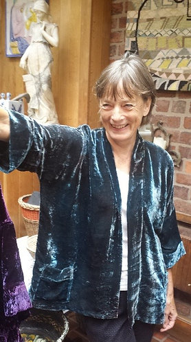 velvet jacket, kimono style