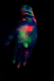 Neon Painted Hand