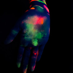 Neon Painted Hand