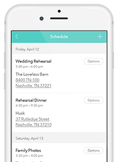Free wedding app schedule