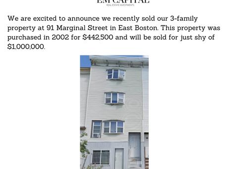 Our Latest Transaction - East Boston
