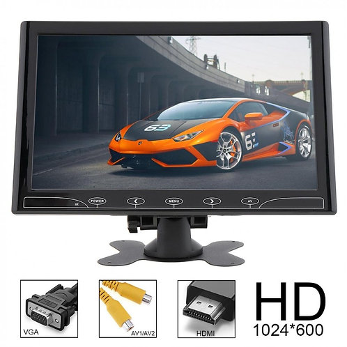 Автомобильный ЖК-монитор 10.1-дюймов – Разрешение 1024x600, Два AV Входа.....