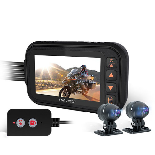 1080P Видеорегистратор для Мотоцикла с Двумя Камерами – IP67 Водостойкий, .....
