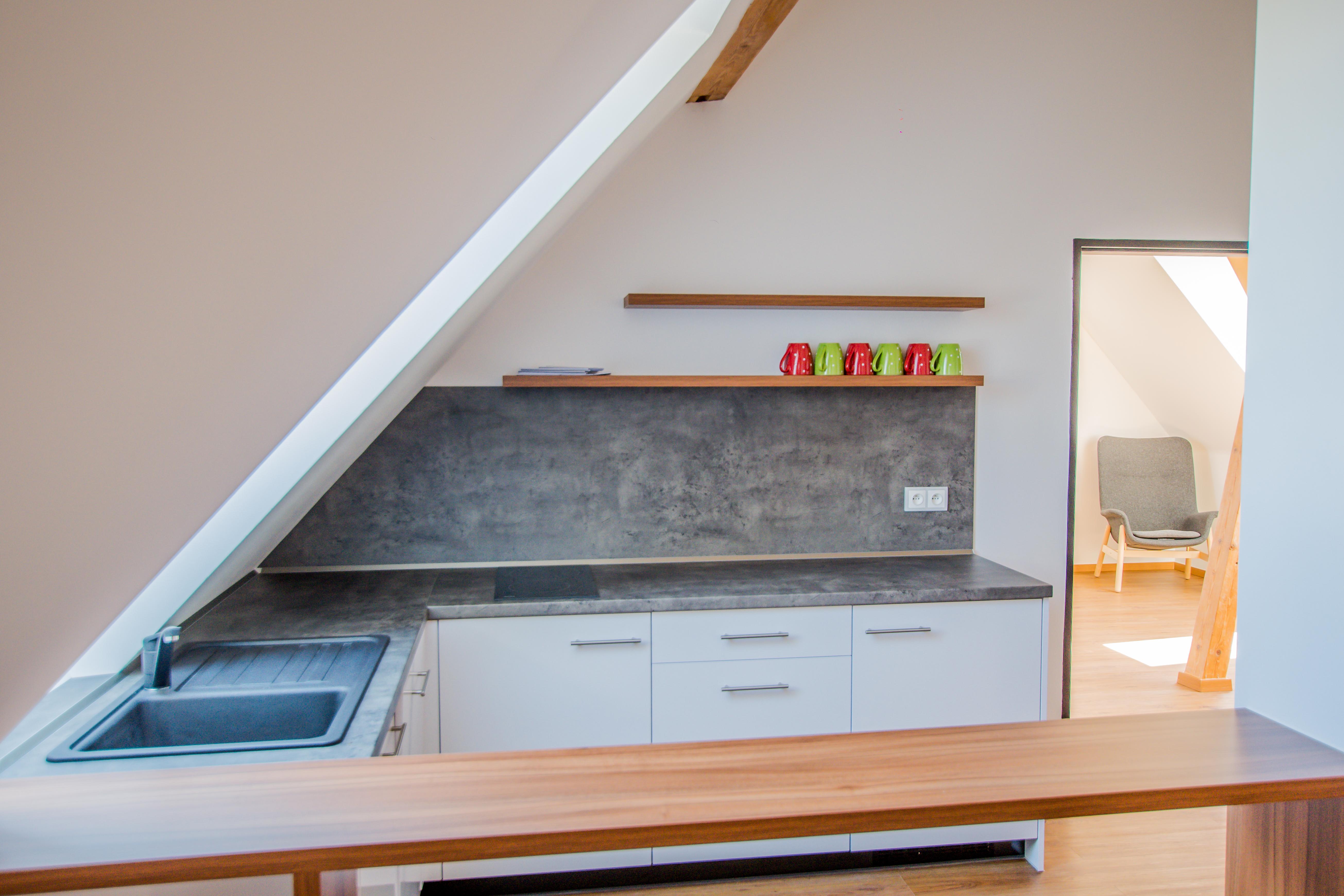 kuchyňka apartmán